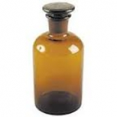 Reagent bottle narrow mouth Amber with ground-in NS stopper